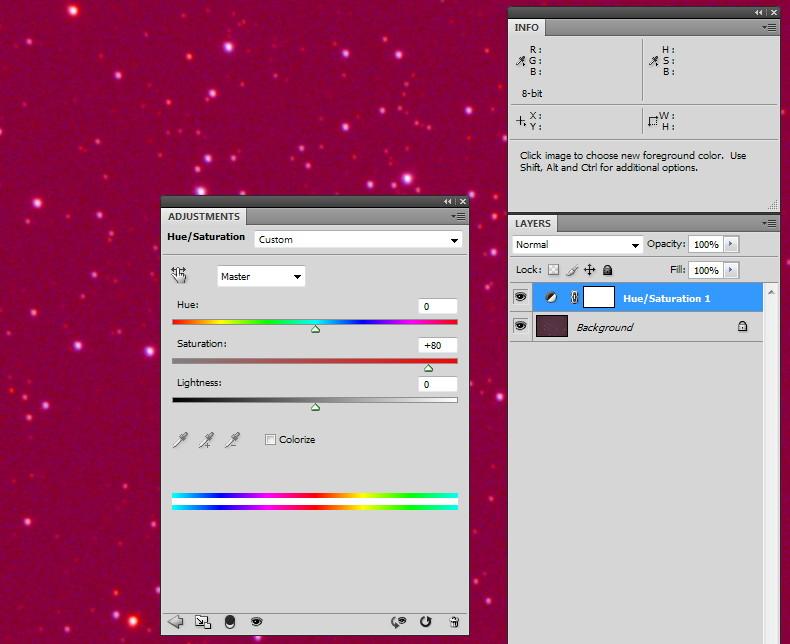 Корректирующий слой для усиления цвета