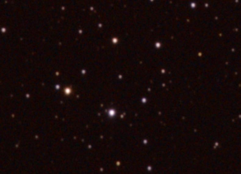 Изображение с готовым цветом звезд и удаленным световым загрязнением