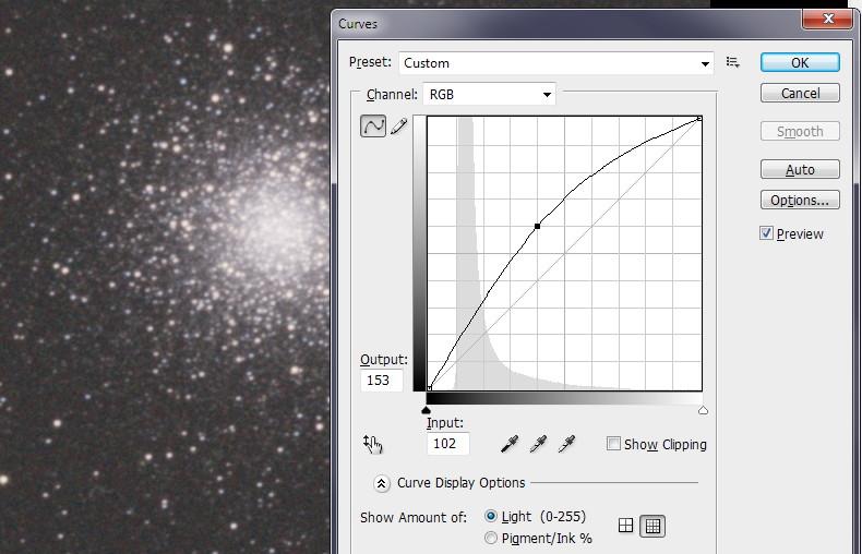Гамма-коррекция с помощью Curves