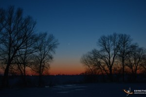 Венера и Меркурий 22 марта 2018 года