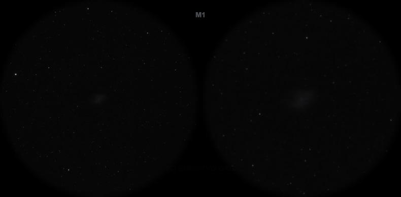Мессье 1. Вид в телескоп