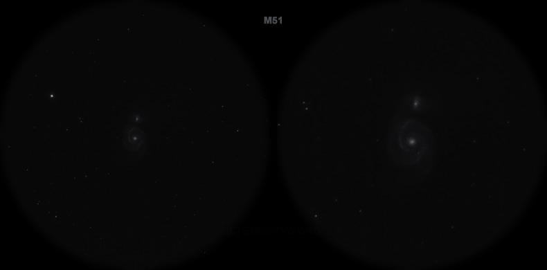 Мессье 51. Вид в телескоп