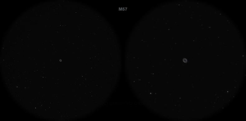 Мессье 57. Вид в телескоп