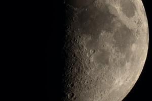 Луна в естественном цвете 22 мая 2018 года