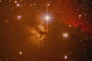 NGC 2024 - туманность «Пламя» и «Конская голова» в Орионе
