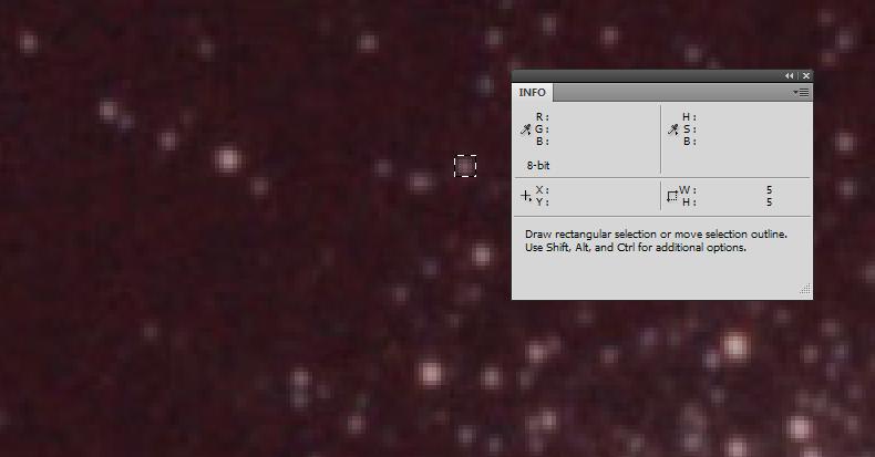 Размер звезды в Фотошопе