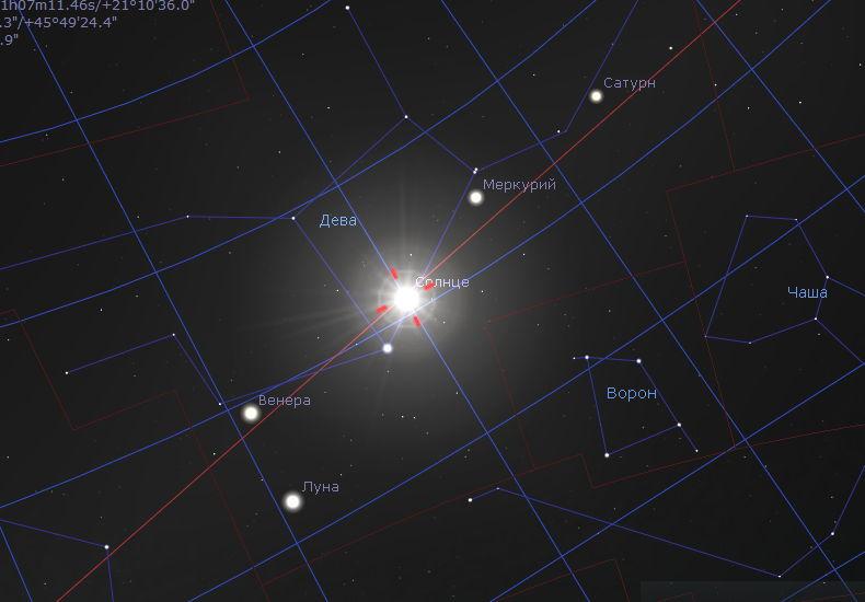 Солнце в 4000 году до н.э. в летнее солнцестояние