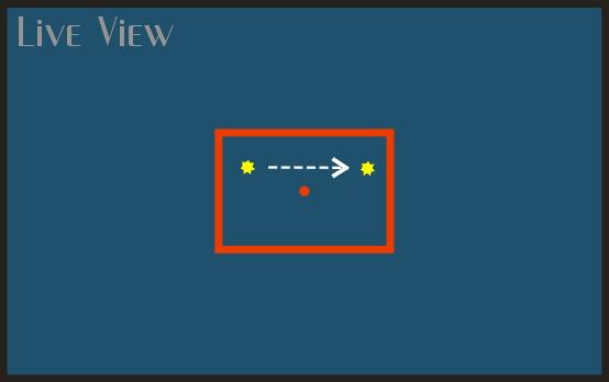 Смещай звезду, ориентируясь на Live View