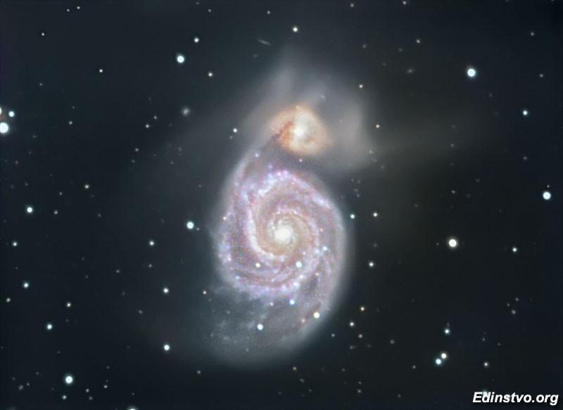 Галактика M51 — (с) Юрий (Nao)