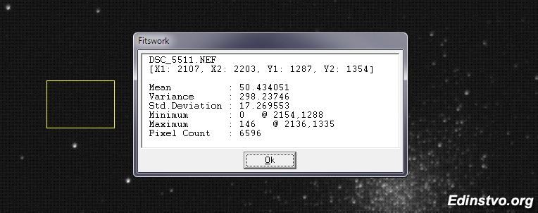Статистика по фону при Луне первой четверти