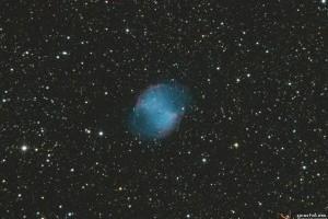 Туманность «Гантель» M27 в Лисичке